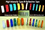 "1"" or 2"" High Intensity Red Yellow White Orange Blue Green Reflective Tape"